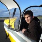 Premier vol solo d'Antoine