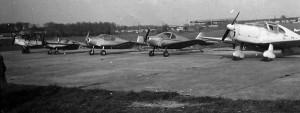 1953-1958 Vue générale de la flotte Aéro-club de Courbevoie