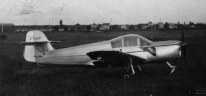 1955 Morane Saulnier 603 de profil Aéro-club de Courbevoie