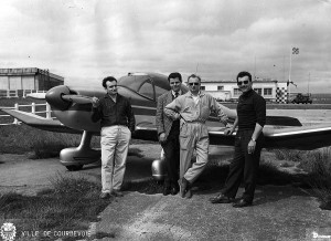 1965 Les pilotes des baptêmes de l'aire Aéro-club de Courbevoie