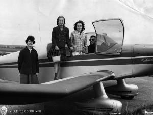 1965 Baptêmes de l'air des filles de Courbevoie Aéro-club de Courbevoie