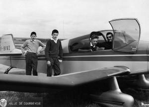 1965 Baptêmes de l'air des garçons de Courbevoie Aéro-club de Courbevoie