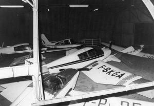 1970 La flotte au hangar Aéro-club de Courbevoie